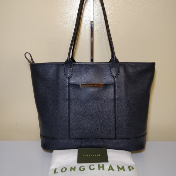Longchamp Le Foulonné Womens Tote Bag Navy Blue eba3767b22